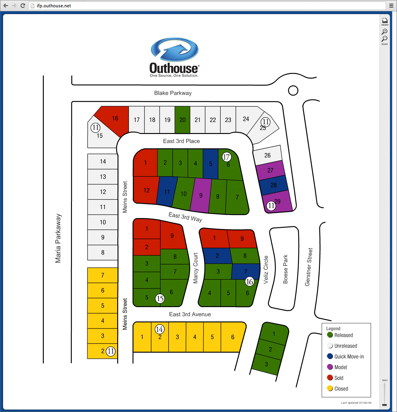 Interactive floor plan adobe flash based application for Interactive floor plans