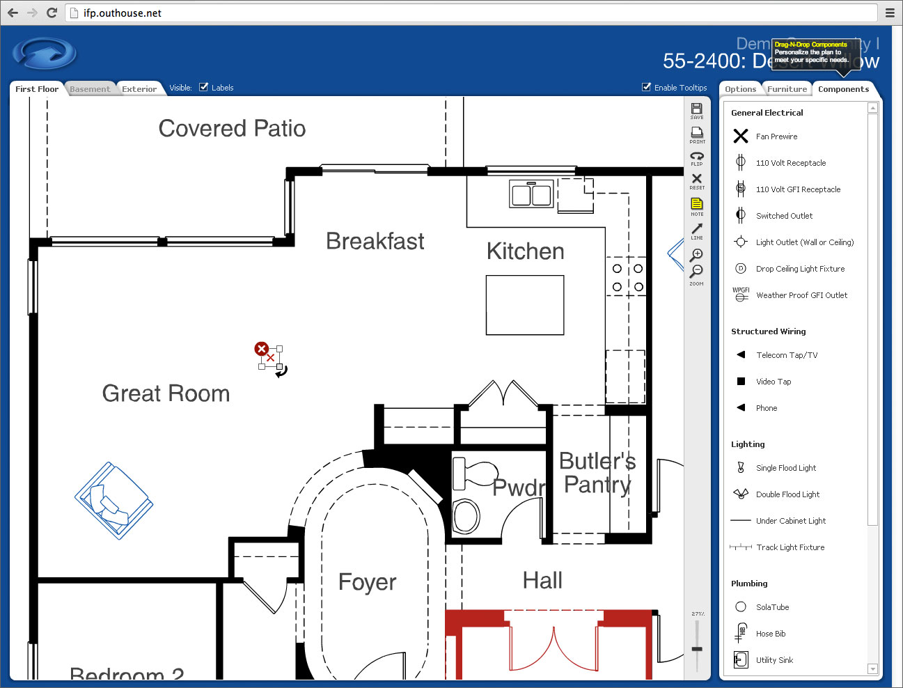 Interactive floor plan adobe flash based application for Interactive house plans