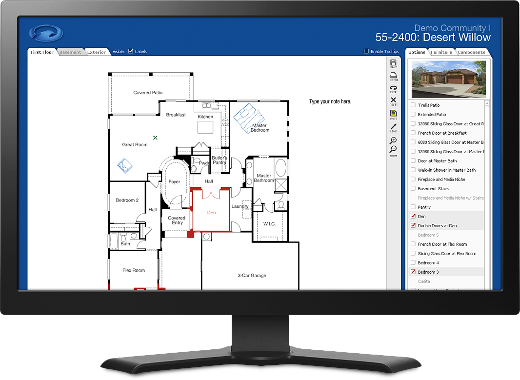 Interactive Floor Plan Adobe Flash Based Application